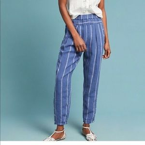 Anthropologie Striped Linen casual Pants